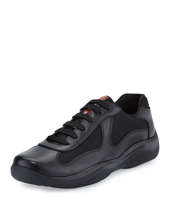 America's Cup Leather Sneaker, Black