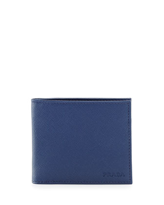 American Classic Saffiano Wallet, Blue