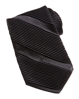 Crystal Silk Tie, Black