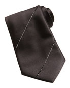 Swarovski® Crystal Silk Tie, Black