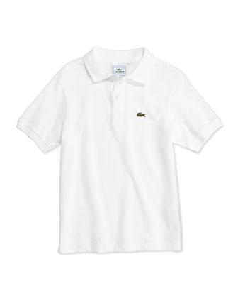 Boys' Classic Pique Polo, White, 2T-12