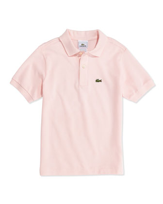 Boys' Classic Pique Polo, Pink, 2T-12