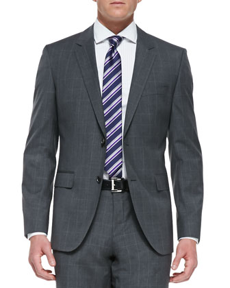 Melange Windowpane 2-Button Suit