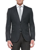 Wool Two-Button Travel Blazer