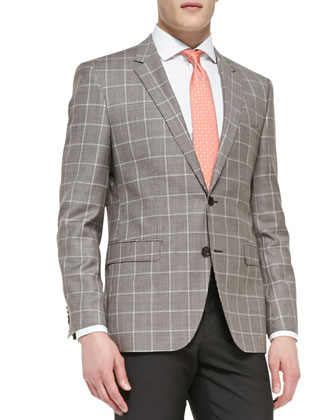 Houndstooth Windowpane 2-Button Blazer
