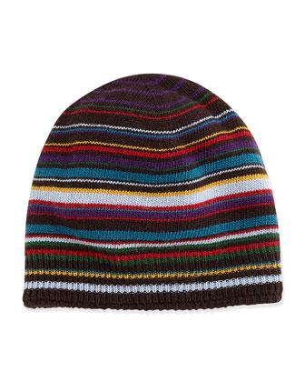 Men's Classic Striped Hat, Red Multi