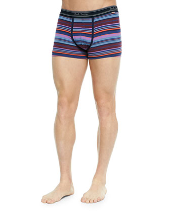 Multi-Stripe Low-Rise Boxer Briefs, Blue/Purple Multi