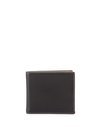 Mini and Bristol on Location Print Leather Wallet
