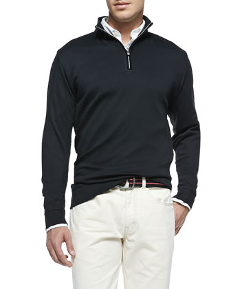 Chesapeake Quilted Jacket, Cotton 1/2-Zip Pullover & New 5-Pocket Pants
