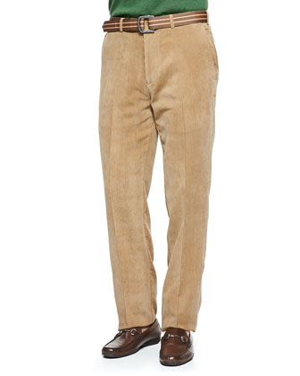 Long-Sleeve Merino Polo Shirt & NanoLuxe Corduroy Pants