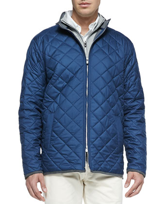 Navy Chesapeake Quilted Jacket, Midnight