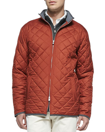 Chesapeake Quilted Jacket. Melange Fleece 1/2-Zip Pullover & New 5-Pocket Pants