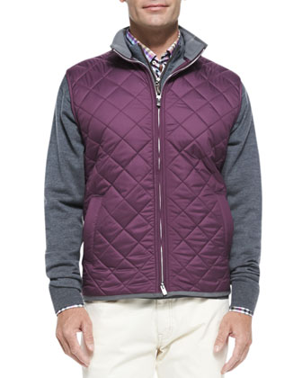 Quilted Potomac Vest, Purple