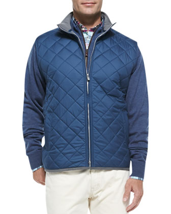 Quilted Potomac Vest, Navy