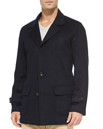 Freeman 3/4-Length Car Coat, Navy