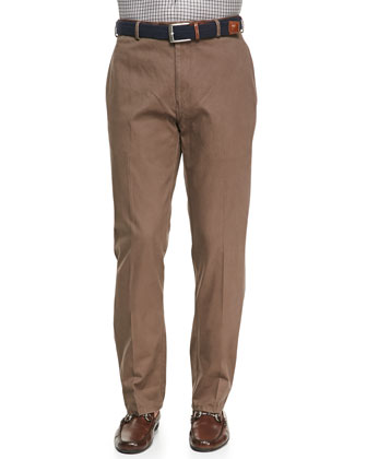 Raleigh Washed-Twill Pants, Expresso
