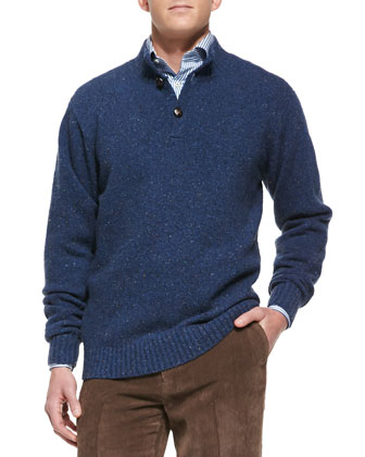 Italian Donegal Two-Button Sweater