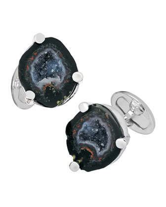 Sterling Drusy Cuff Links
