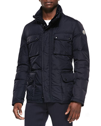 Amazonne Quilted Field Jacket, Navy