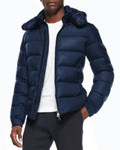 Himalaya Puffer Jacket with Hood, Blue