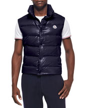Tib Puffer Vest, Dark Navy