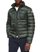 Norbert Quilted Puffer Jacket, Forest Green