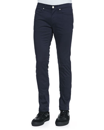 Max Slim-Fit Satin-Blue Jeans