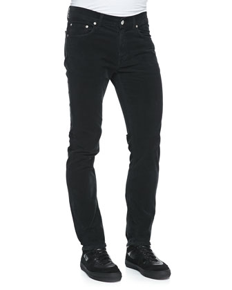 Ace Skinny Corduroy Pants, Black