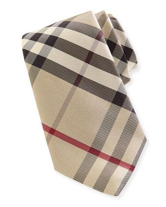 Narrow Check Silk Tie, New Classic