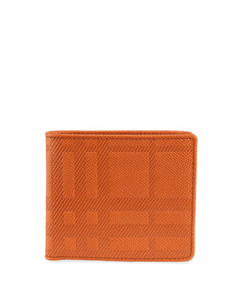 Embossed Check Bi-Fold Wallet
