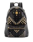 Stark Men's Studded Medium Backpack, Black
