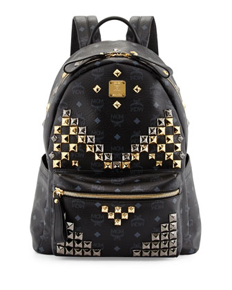 Stark Men's Studded Medium Backpack, Black