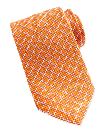 Diagonal Graph Tie, Orange