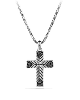 Modern Chevron Cross with Black Diamonds