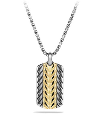 Modern Chevron Tag with Gold
