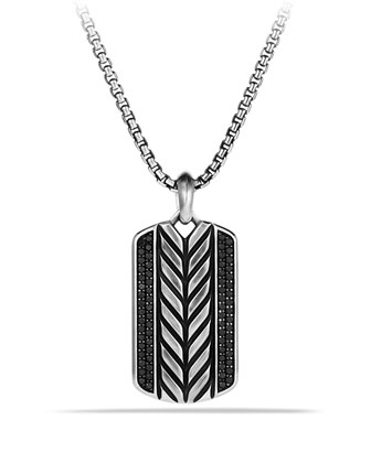 Modern Chevron Tag with Black Diamonds