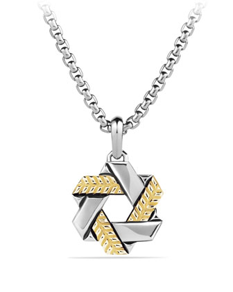 Modern Chevron Star of David with Gold