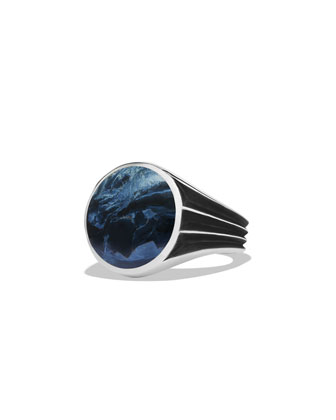 Knife Edge Signet Ring with Pietersite