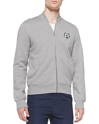 Tiger-Patch Baseball Jacket & Tech-Fabric Jogging Pants