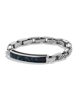 Modern Cable ID Bracelet with Pietersite