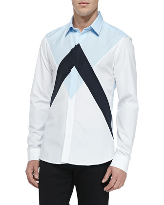 Twin Peaks Colorblock Shirt, White