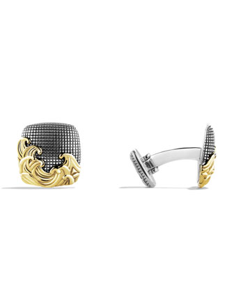 Waves Cuff Links with Gold