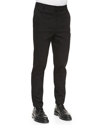 Angle-Pocket Cargo Pants, Black