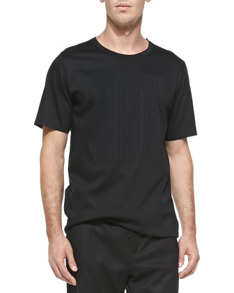 Laser-Cut Logo Tee, Black
