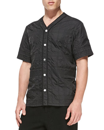 Quilted Nylon Baseball Shirt