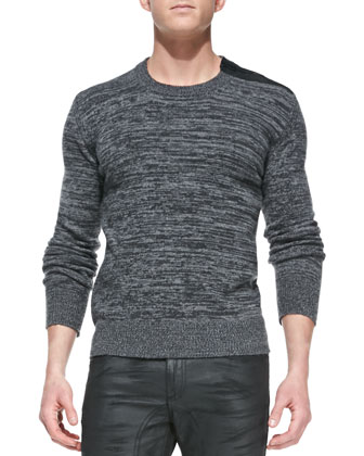 Kilberry Space-Dye Sweater & Eastham Resin-Coated Skinny Jeans