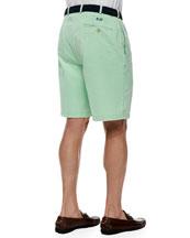 Monogrammed Winston Twill Shorts, Green