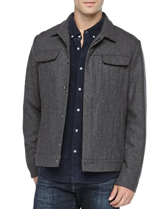Wool-Blend Rogue Jacket, Dark Gray