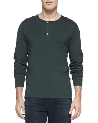 Commute Long-Sleeve Henley, Green