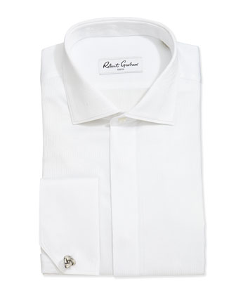 Claudius Paisley Jacquard Dress Shirt, White